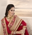 Party-wear-red-gold-color-saree