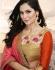 Party-wear-pink-orange-brown-color-saree