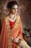 Party-wear-Orange-Beige-color-saree