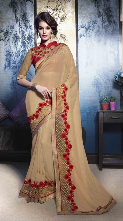 Party-wear-beige-color-5-saree