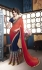 Party-wear-tomato-red-blue-color-saree