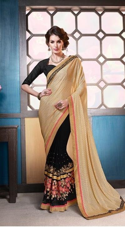 Party-wear-beige-black-color-7-saree