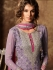 Lavender color georgette straight cut kameez