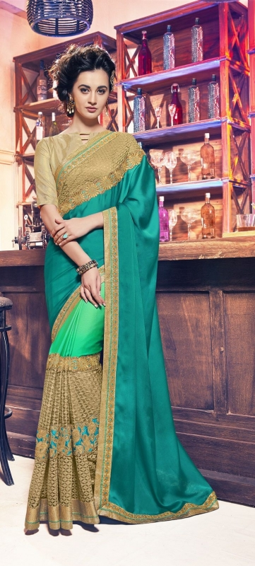 Party-wear-green-11-color-saree