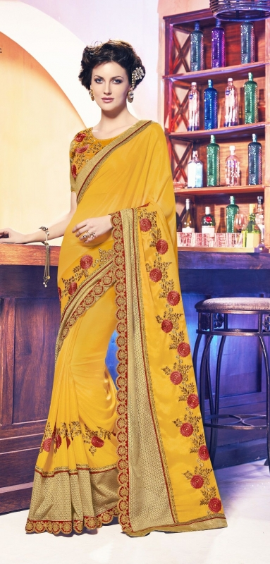 Party-wear-yellow-11-color-saree