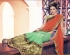 Party-wear-green-red-color-saree