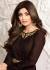 Shilpa shetty brown color raw silk party wear anarkali