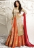 Shilpa shetty  golden beige and red color raw silk lehenga kameez