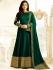 Drashti Dhami bottle green color silk party wear anarkali kameez
