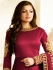 Drashti Dhami wine color silk party wear anarkali kameez