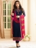 Drashti Dhami navy blue color georgette party wear kameez