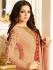 Drashti Dhami peach color georgette party wear kameez
