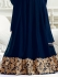 Drashti Dhami navy blue color georgette  anarkali kameez
