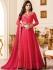 Drashti Dhami dark pink color georgette party wear anarkali kameez