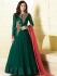 Drashti Dhami green color chiffon party wear anarkali kameez
