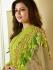 Drashti Dhami green color georgette party wear anarkali kameez