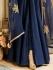 Drashti Dhami navy blue color bangalori silk party wear anarkali kameez