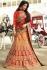 Yellow and red color silk wedding lehenga choli