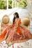 Orange and red color silk wedding lehenga choli