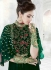 Green color georgette wedding wear anarkali