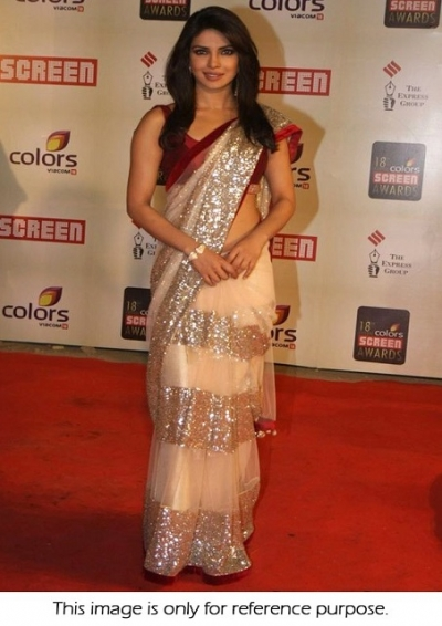 Priyanka Chopra at 18th annual colours screen award Saree