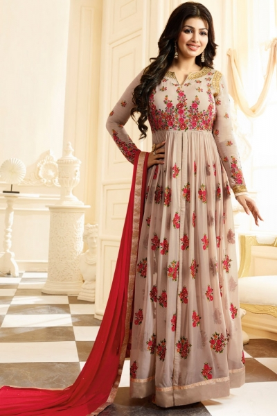 Ayesha Takia onion pink color georgette anarkali