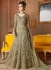 Grey color net wedding wear anarkali