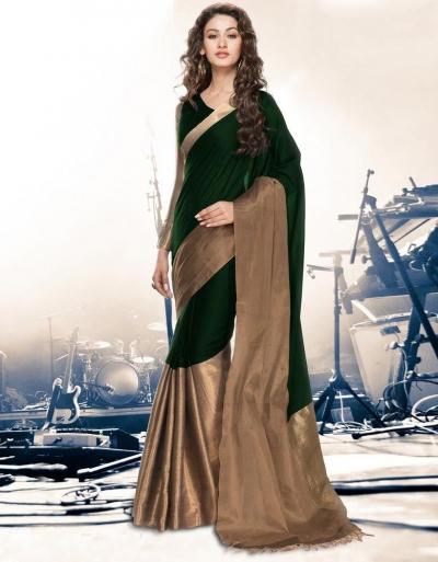 Aryaa Emerald Party Wear Cotton Saree
