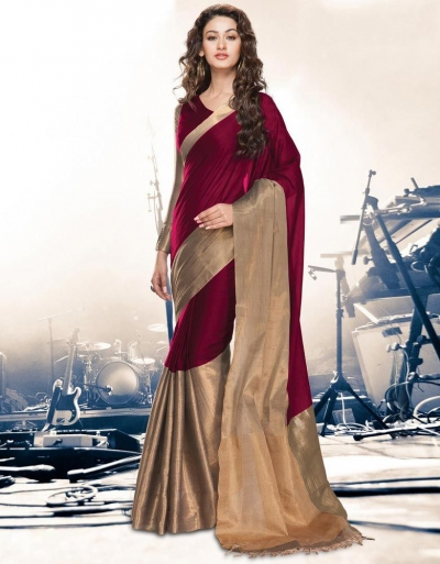 Aryaa Ruby Party Wear Cotton Saree