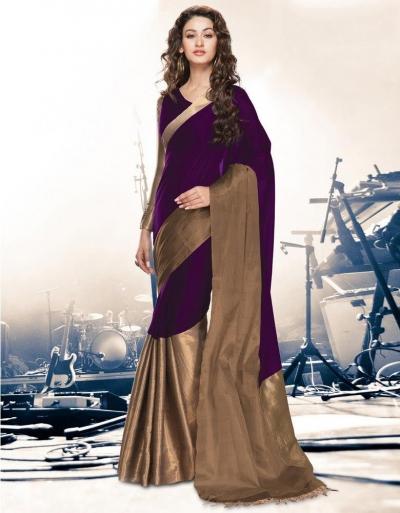 Aryaa Orchid Party Wear Cotton Saree