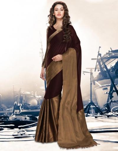 Aryaa Coffee Party Wear Cotton Saree