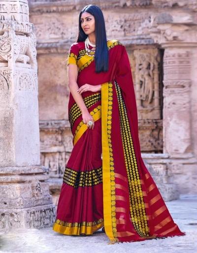 Simar Wedding Wear Cotton Saree