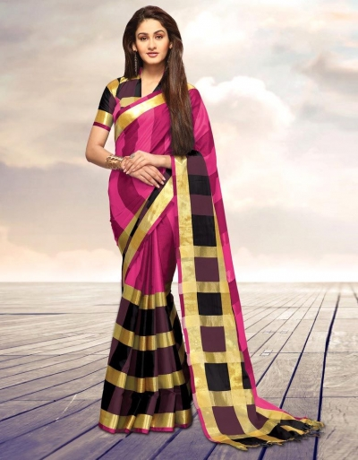 Areesa Garnet Party Wear Cotton Saree