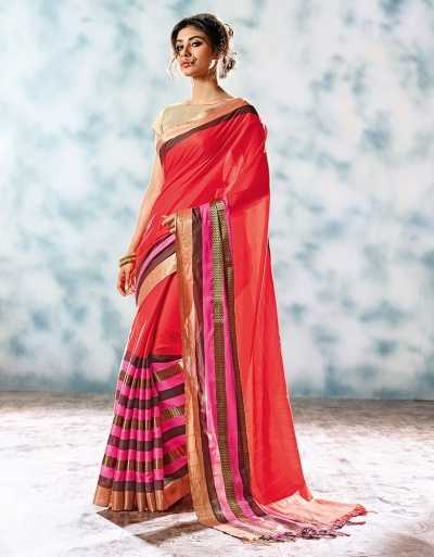 Zobia Designer Cotton Saree