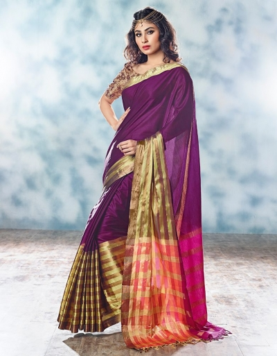 Leysa Designer Cotton Saree