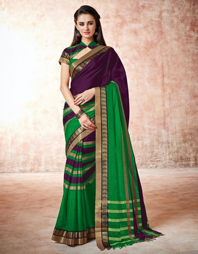 Parisa opal purple Cotton Saree