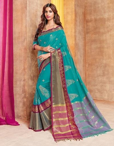 Zonira Designer Wear Cotton Saree