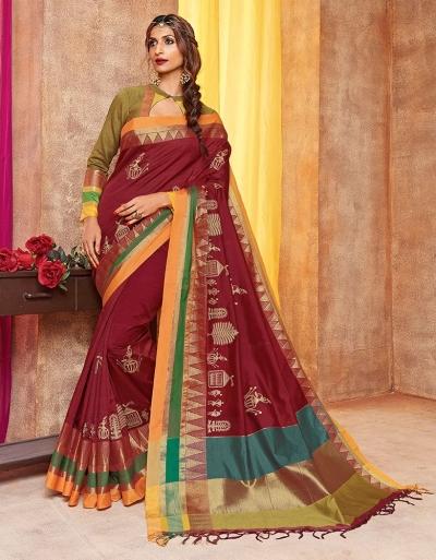 Saarang Designer Wear Cotton Saree