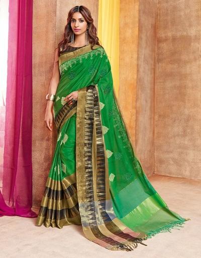 Pazeb Designer Wear Cotton Saree
