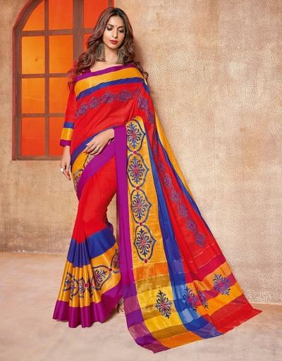 Kundal Designer Wear Cotton Saree