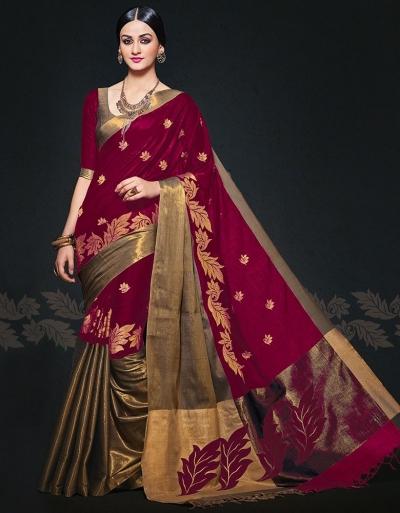 Aryaa August Ruby Designer Wear Cotton Sarees