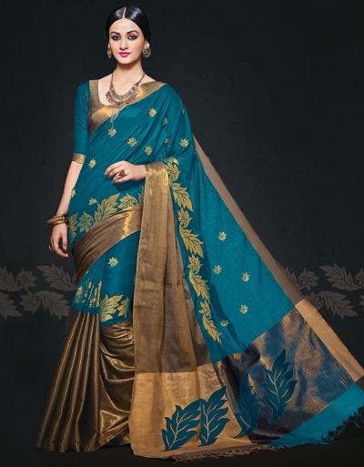 Aryaa August Peacock Designer Wear Cotton Sarees