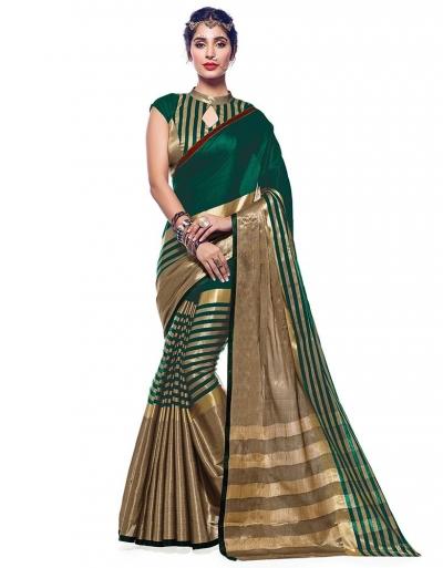 Ora Tender Green Designer Wear Cotton Saree