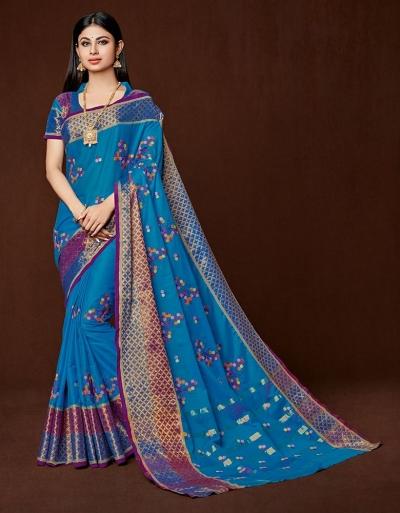 Saina Designer Wear Cotton Saree