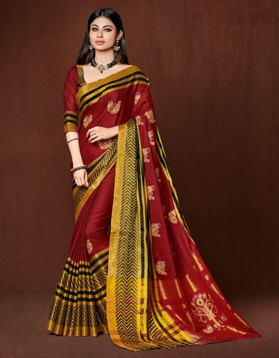 Nirosha Designer Wear Cotton Saree