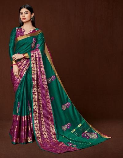 Miraan Designer Wear Cotton Saree