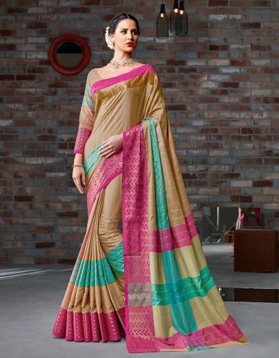 Hayal Festive Wear Cotton Saree