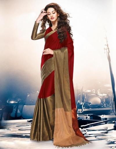 Aryaa Currant Party Wear Cotton Saree