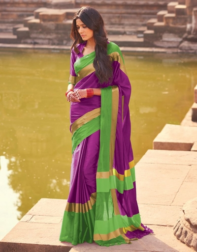 Aangi Iris Magenta Festive Wear Saree
