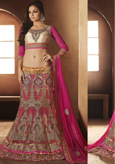 Splendorous Gold Color Lehenga Choli
